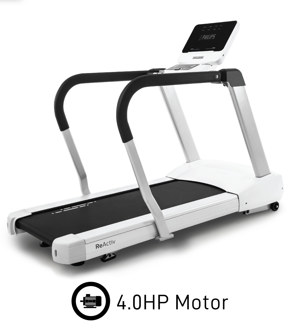 Philips 4.0T Commercial Treadmill with Incline & Decline, 4.0HP Motor, Side Arm Support - Made by Spirit Fitness - New 2021