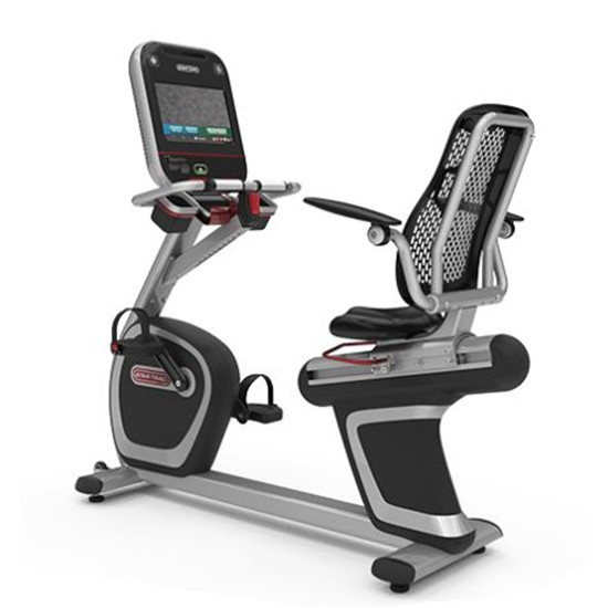 "STAR TRAC 8 SERIES RECUMBENT BIKE WITH 15"" TOUCHSCREEN ATSC EMBEDDED"
