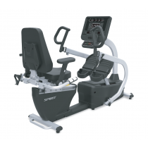 Spirit Fitness CRS800S 'Step Thru' Recumbent Stepper with Swivel Seat, Heart Rate & Padded Armrests