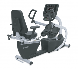 Spirit Fitness CRS800S 'Step Thru' Recumbent Stepper with Swivel Seat, Heart Rate & Padded Armrests - Demo