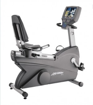 Life Fitness 95Re Recumbent Bike w/TV - Premium Certified Pre-Owned